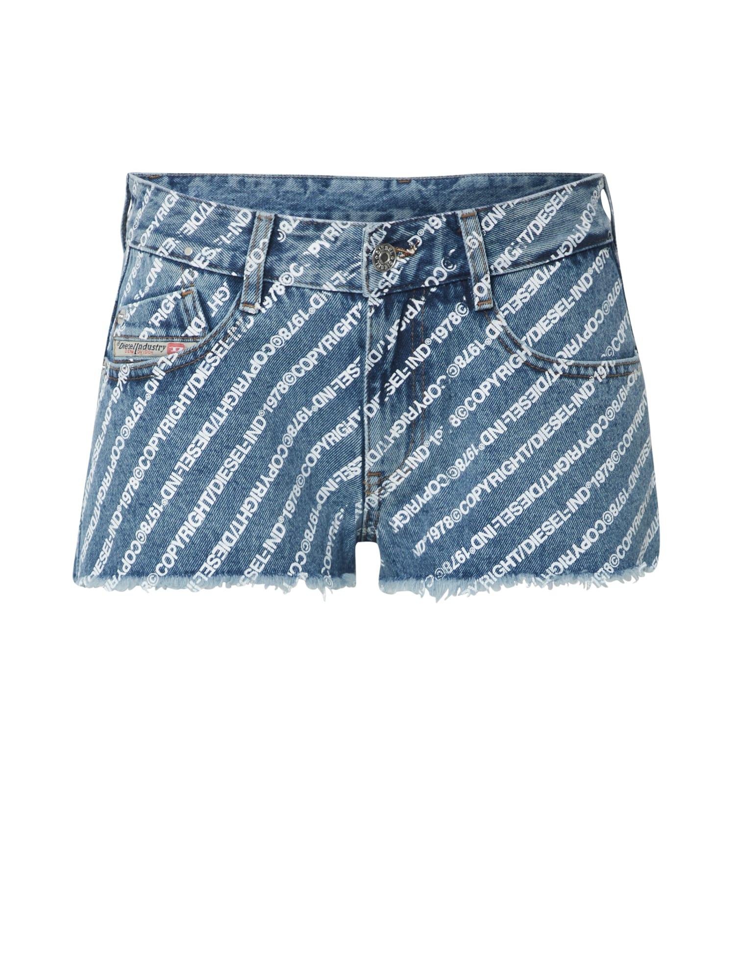 DIESEL Džinsai 'De-Rifty' tamsiai (džinso) mėlyna / balta