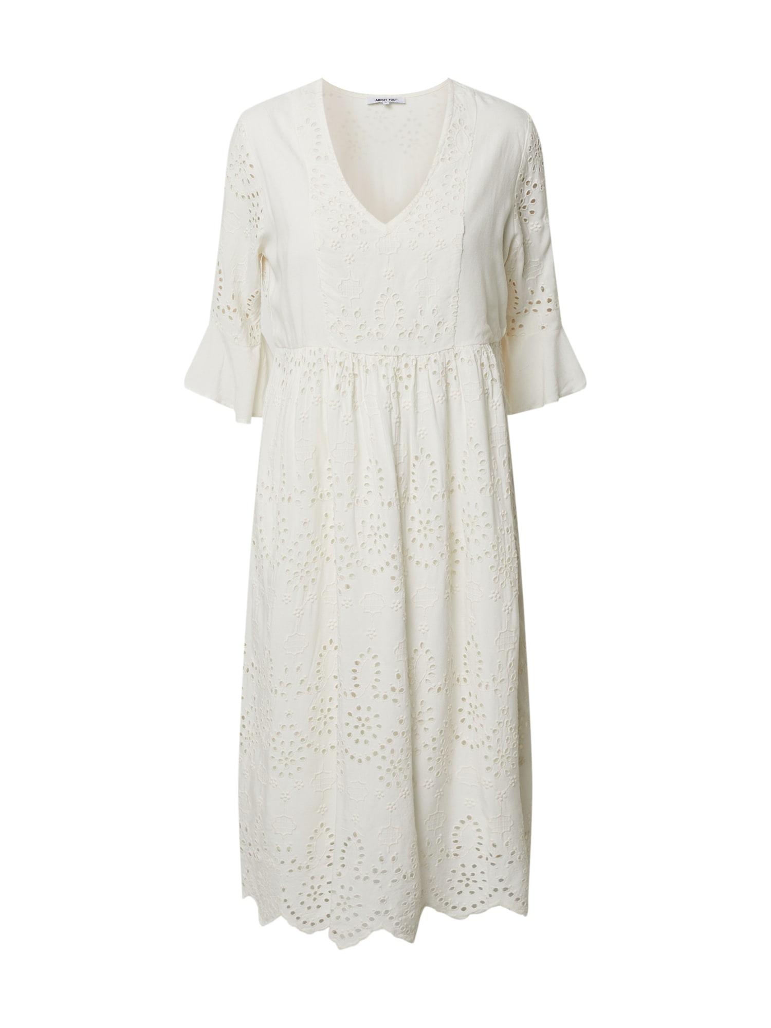 ABOUT YOU Vasarinė suknelė 'Bianca' balta