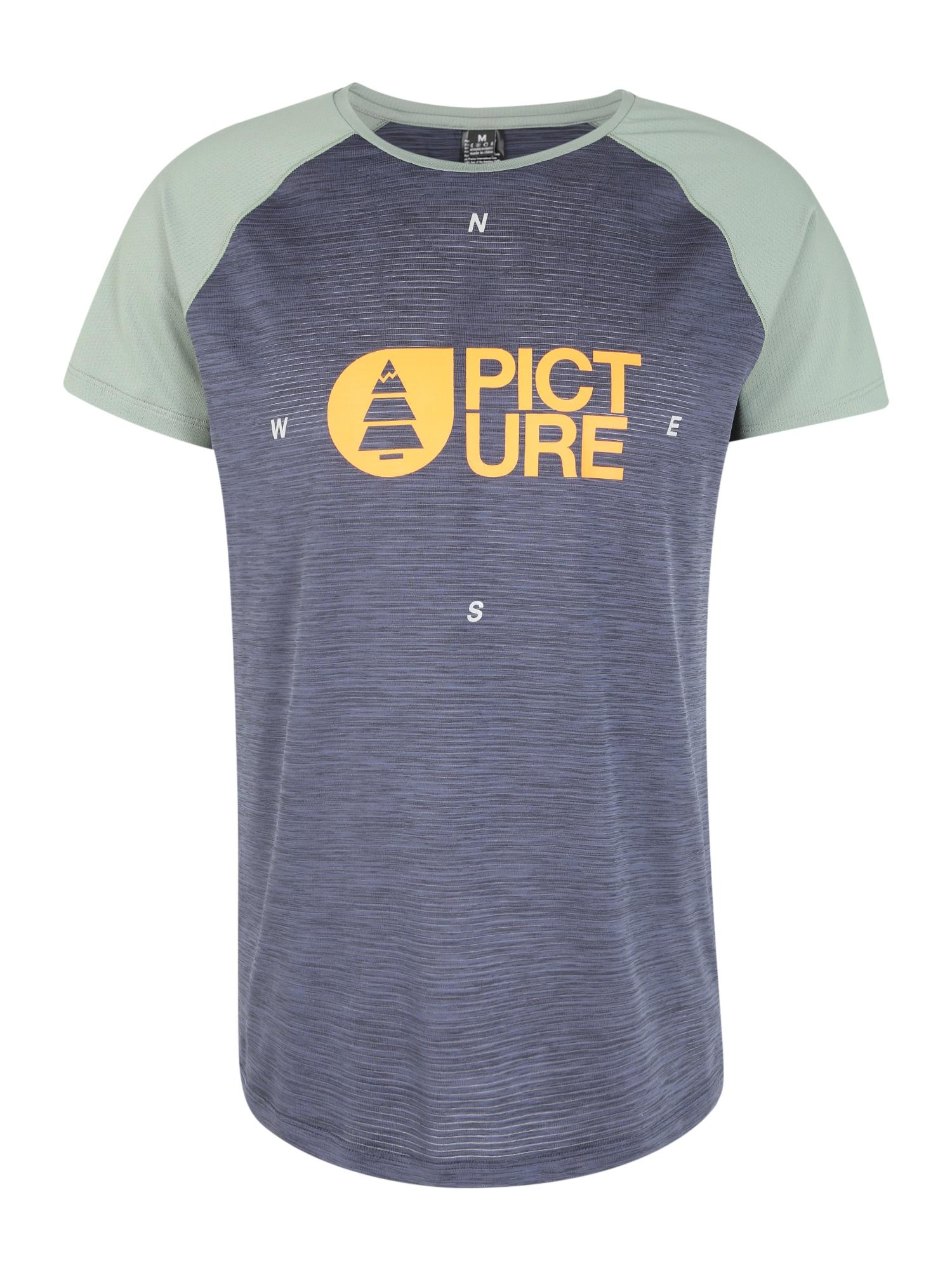 Picture Organic Clothing Sportiniai marškinėliai 'YAGO TECH' rusvai žalia / tamsiai mėlyna