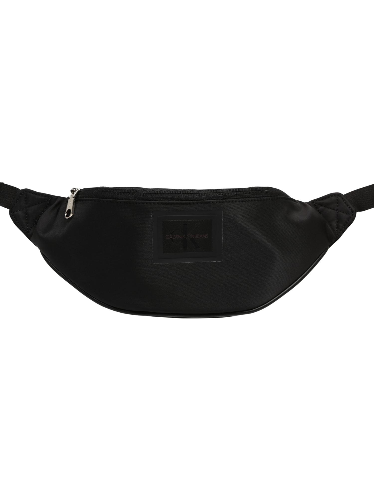 Calvin Klein Jeans Rankinė ant juosmens 'CKJ SLEEK NYLON STREETPACK' juoda