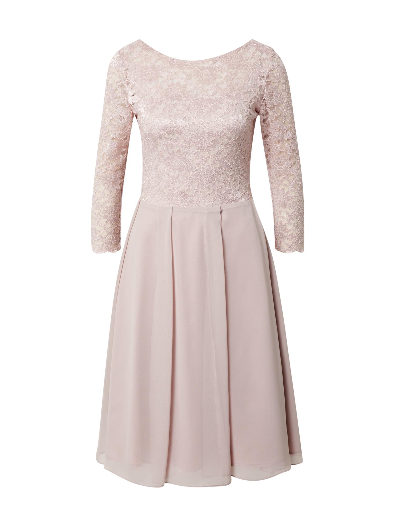 SWING Kokteilinė suknelė pudros spalva
