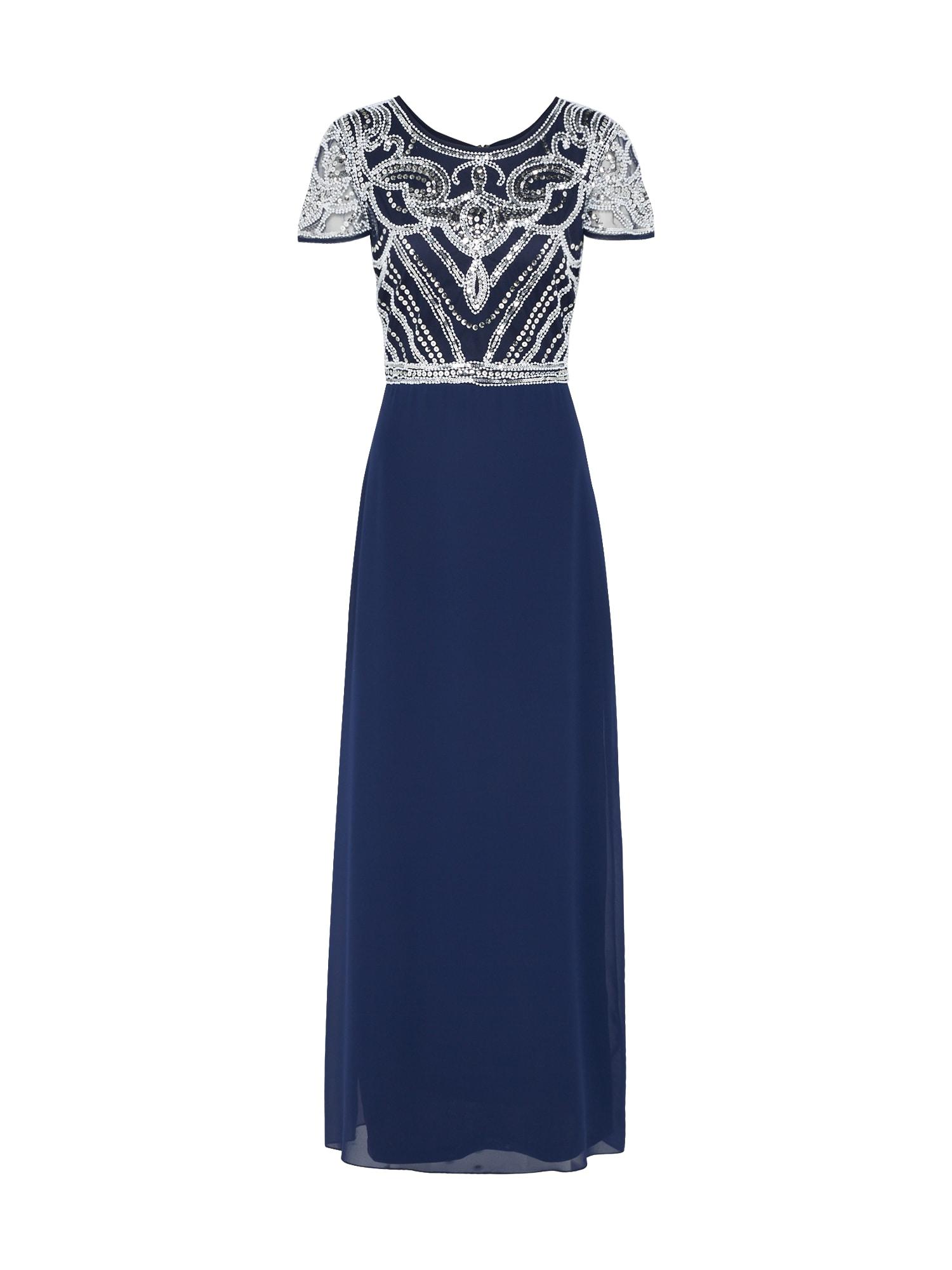 Boohoo Vakarinė suknelė 'BOUTIQUE FRANCESCA' balta / tamsiai mėlyna