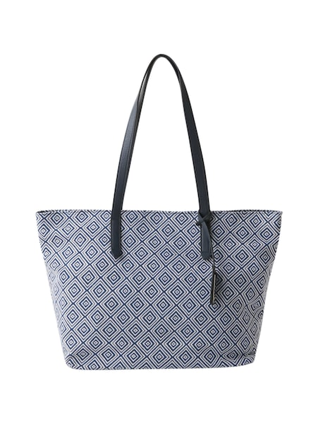Shopper für Frauen - TOM TAILOR Shopper 'Kitti' blau weiß  - Onlineshop ABOUT YOU