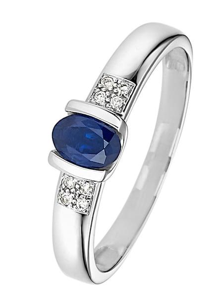 Ringe für Frauen - CHRIST Saphir Ring blau silber  - Onlineshop ABOUT YOU