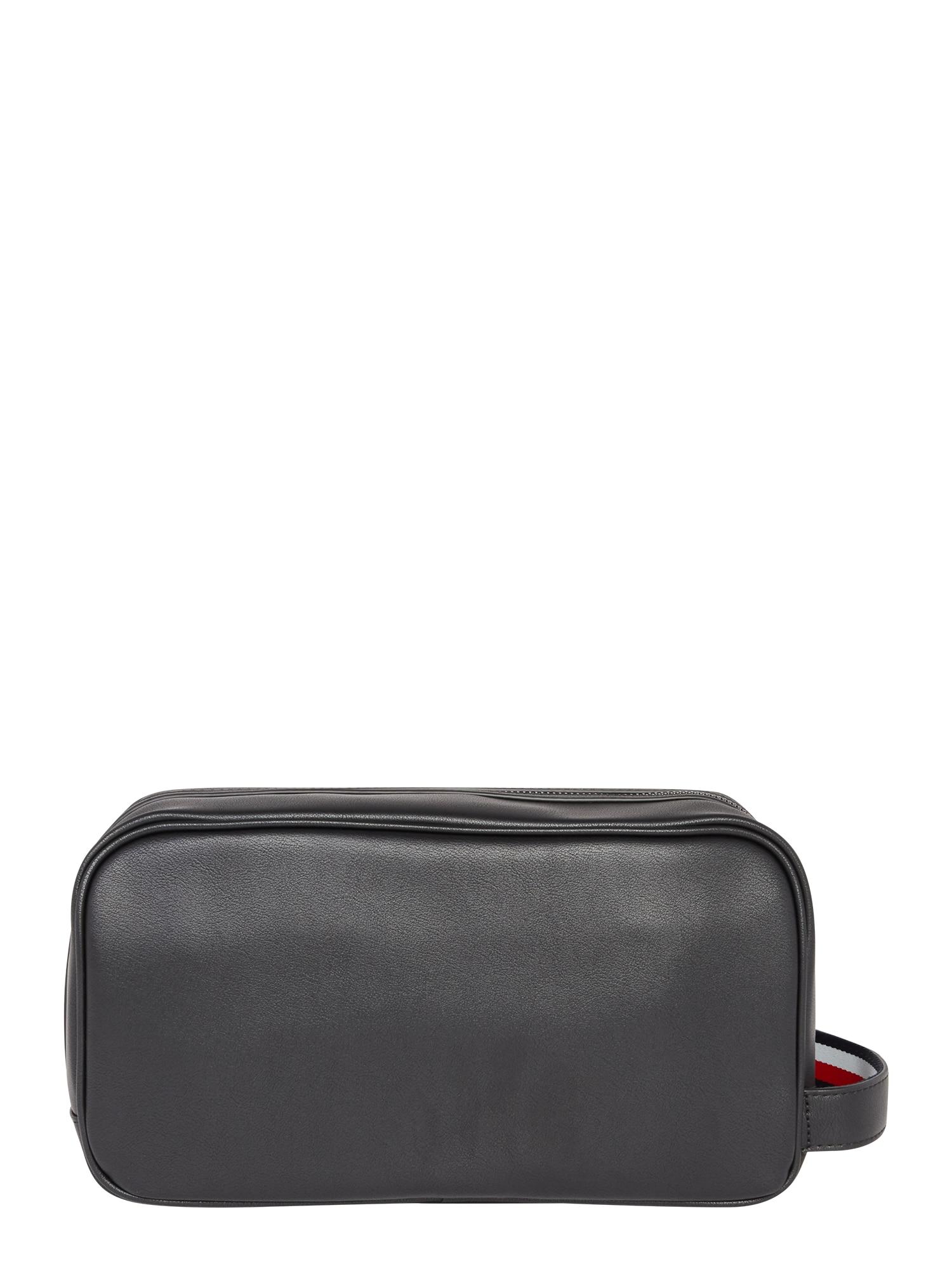 TOMMY HILFIGER Tualeto reikmenų / kosmetikos krepšys 'METRO' juoda