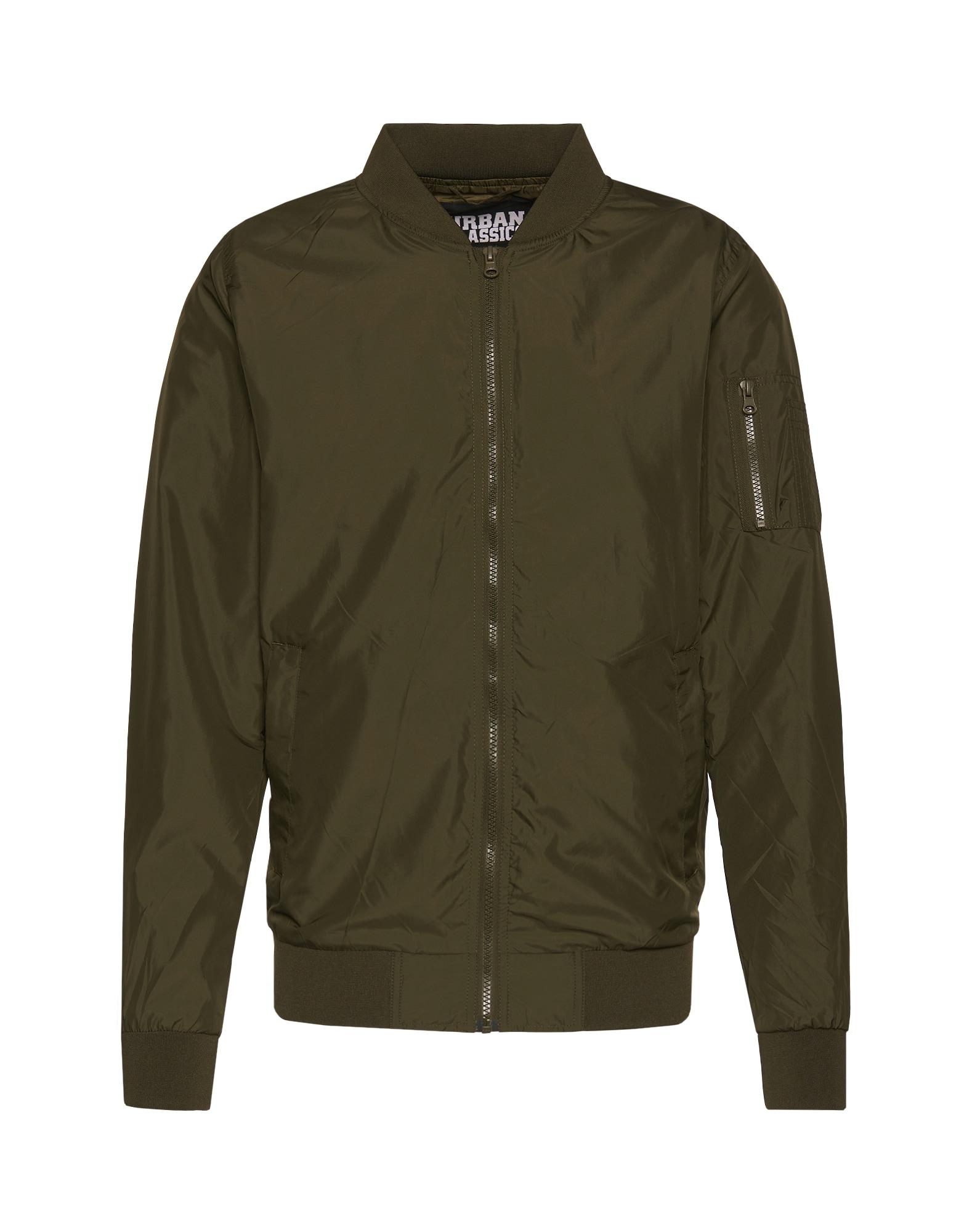 Urban Classics Demisezoninė striukė 'Light Bomber Jacket' alyvuogių spalva