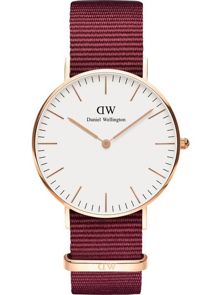 Uhren für Frauen - Daniel Wellington Uhr 'Classic 36 Roselyn' rosegold feuerrot weiß  - Onlineshop ABOUT YOU