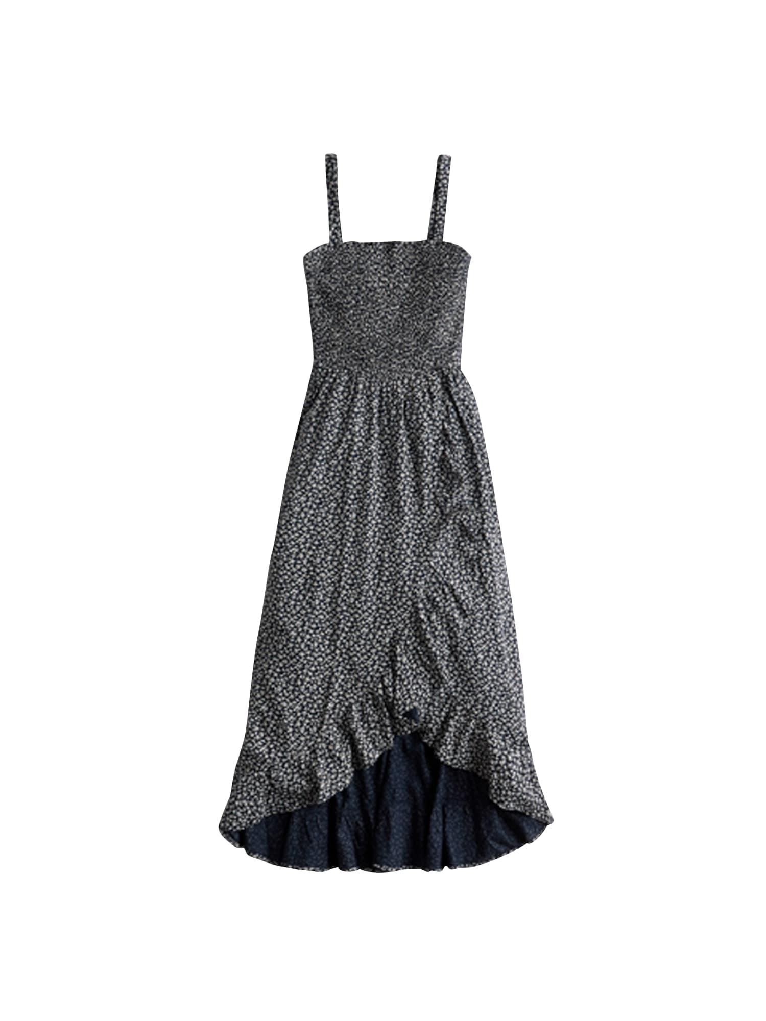 HOLLISTER Vasarinė suknelė balta / tamsiai mėlyna