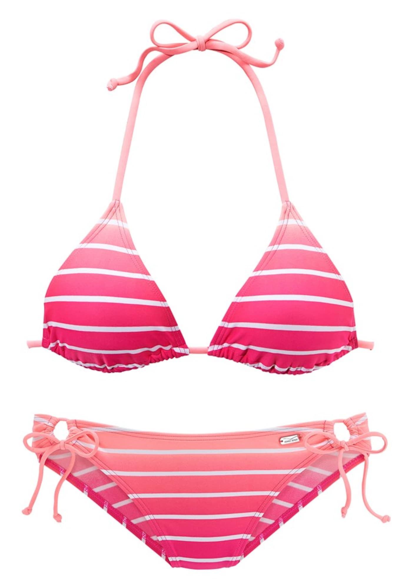 VENICE BEACH Bikinis balta / rožinė