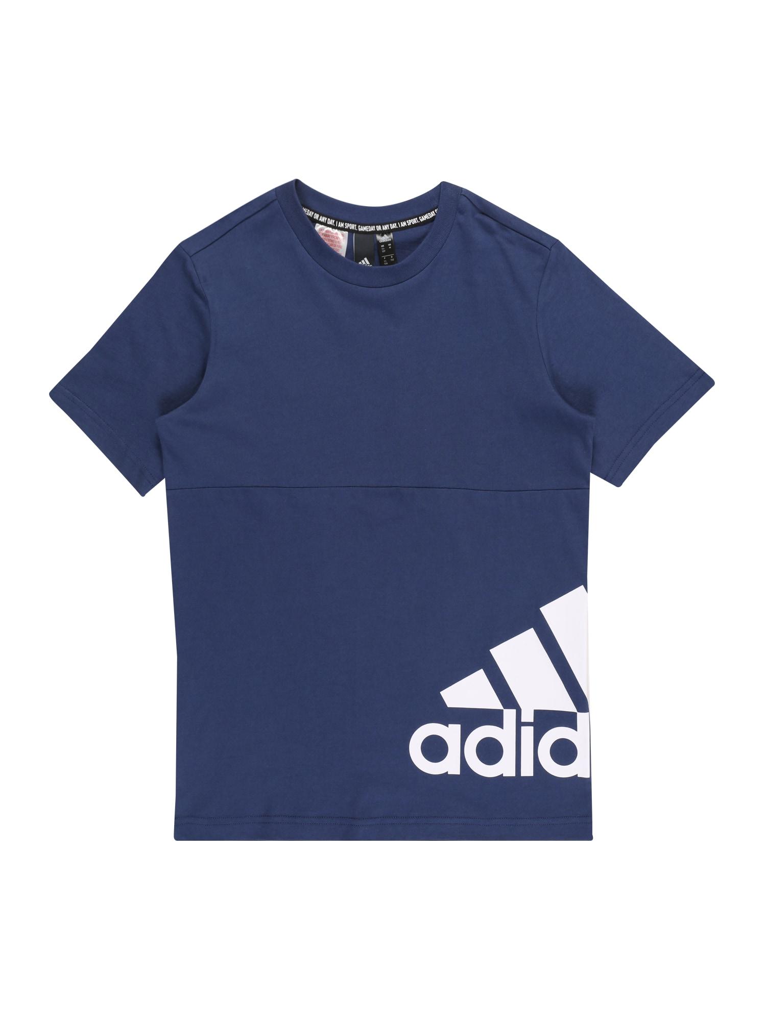 ADIDAS PERFORMANCE Sportiniai marškinėliai 'YB MH BOS T2' tamsiai mėlyna