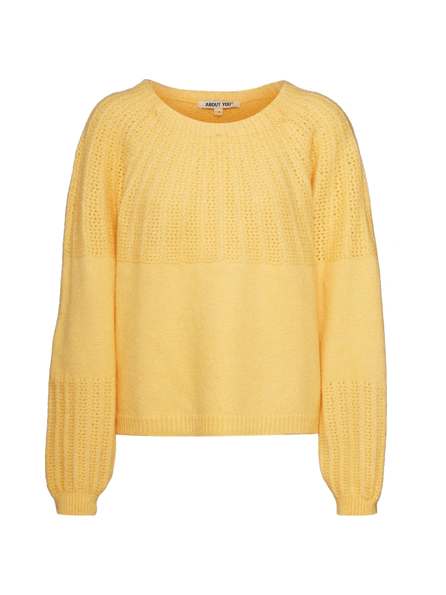 ABOUT YOU Megztinis 'Eileen' geltona