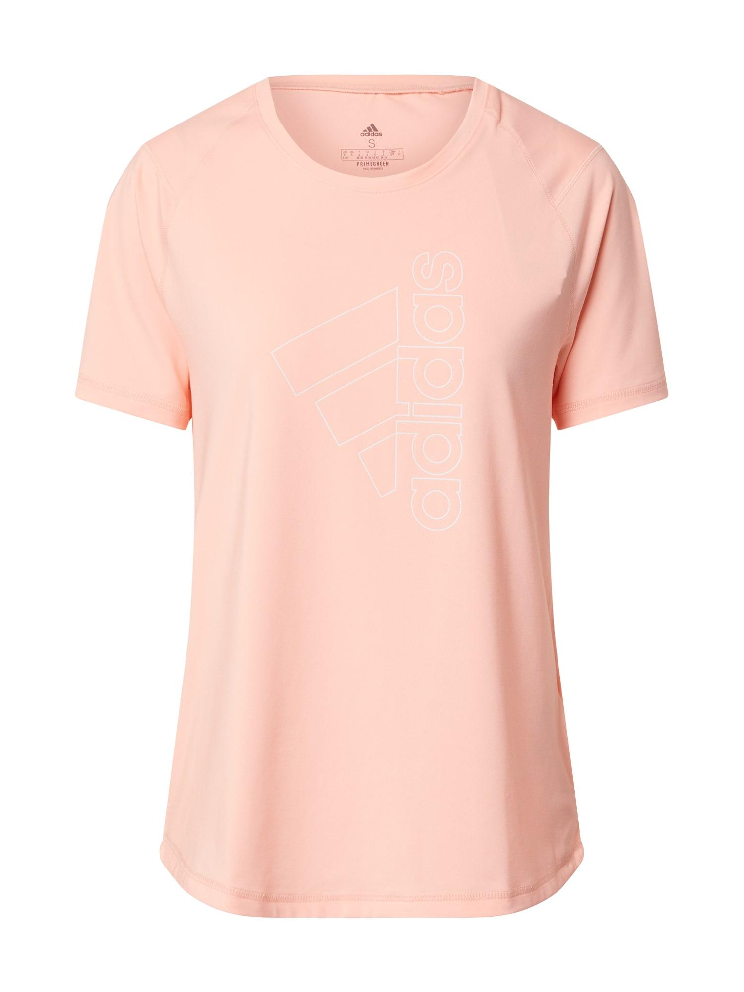 ADIDAS PERFORMANCE Funkčné tričko  lososová