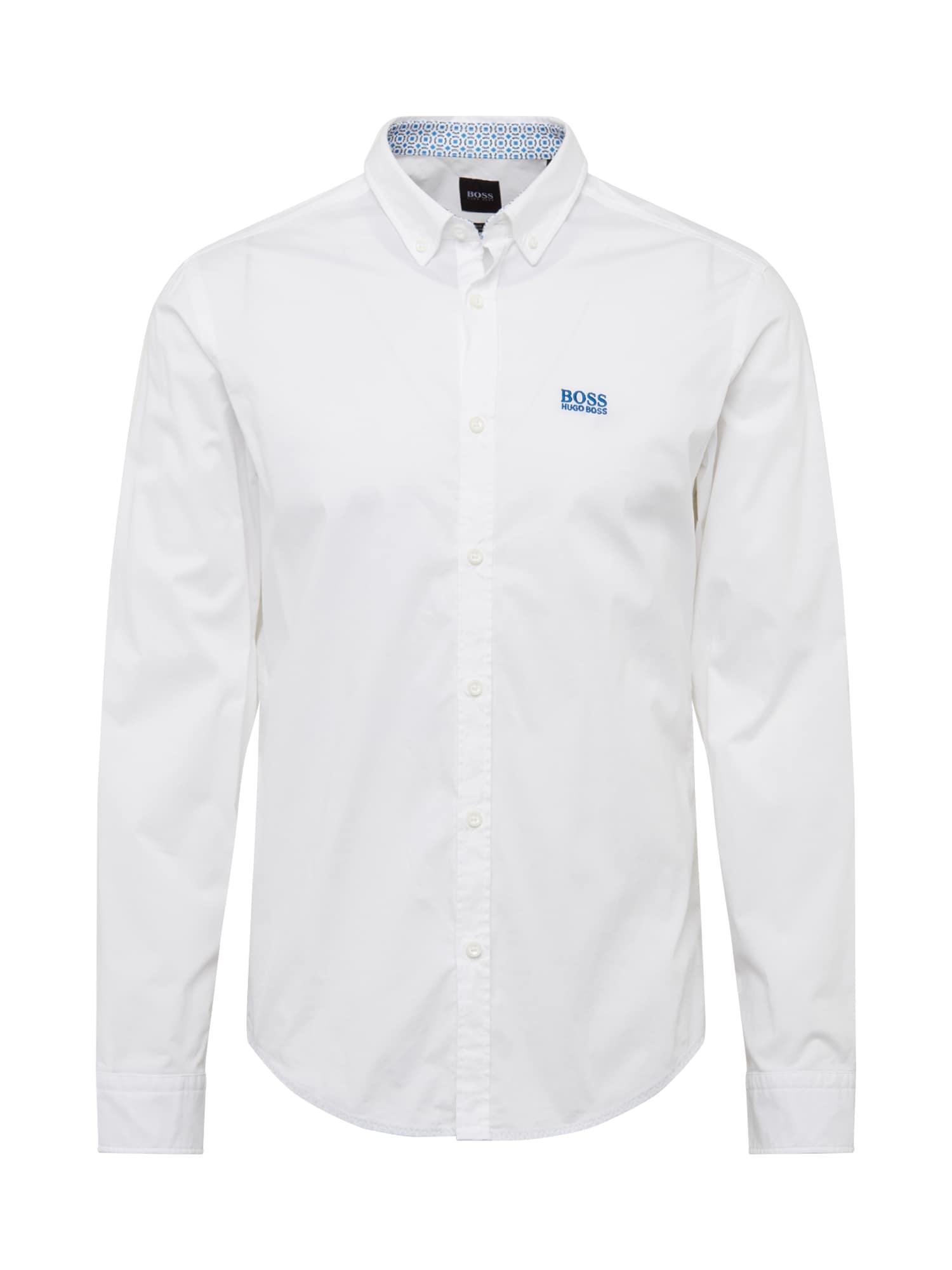 BOSS ATHLEISURE Dalykiniai marškiniai 'BIADO' balta