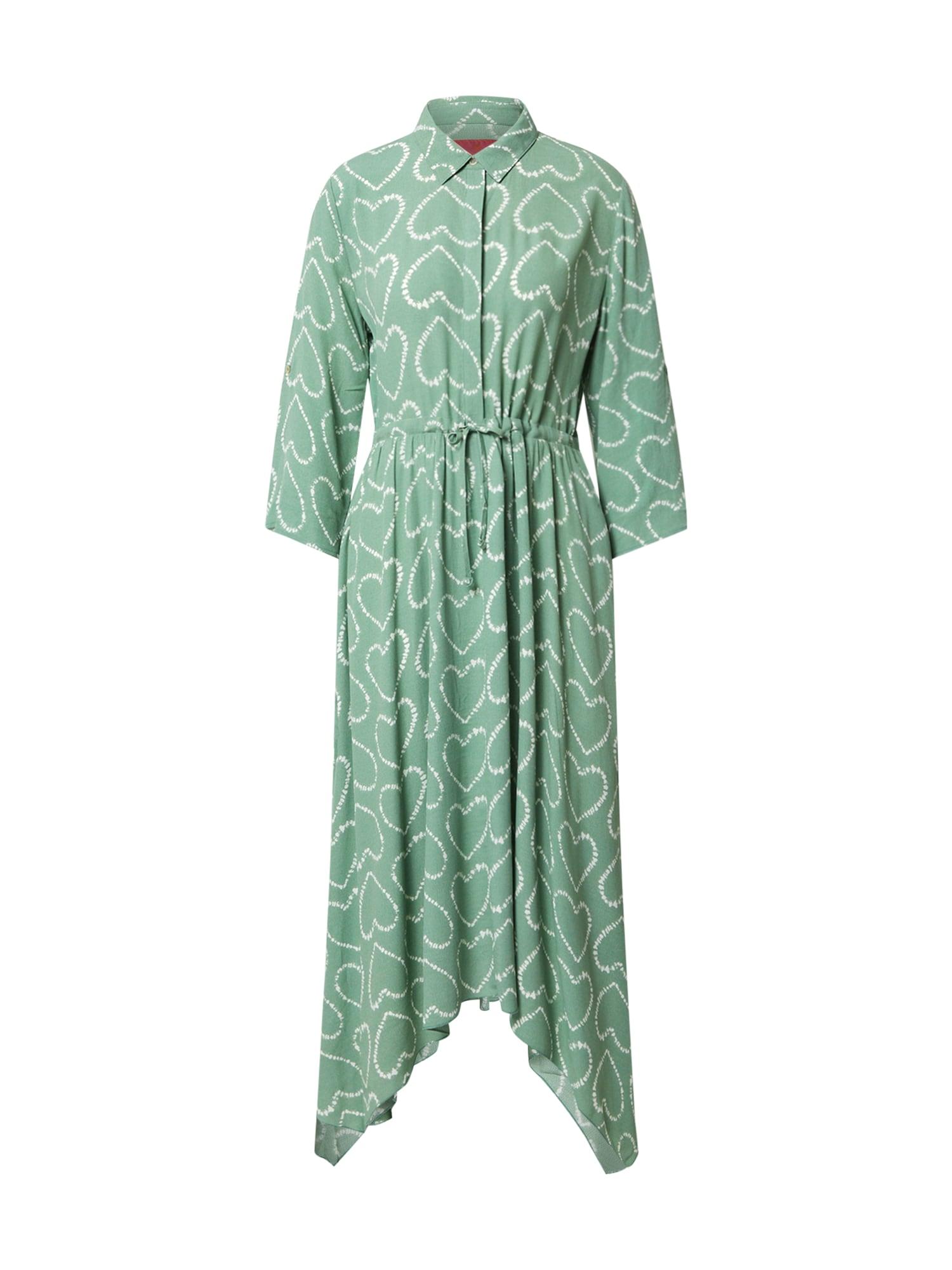 LIEBLINGSSTÜCK Košeľové šaty  svetlozelená