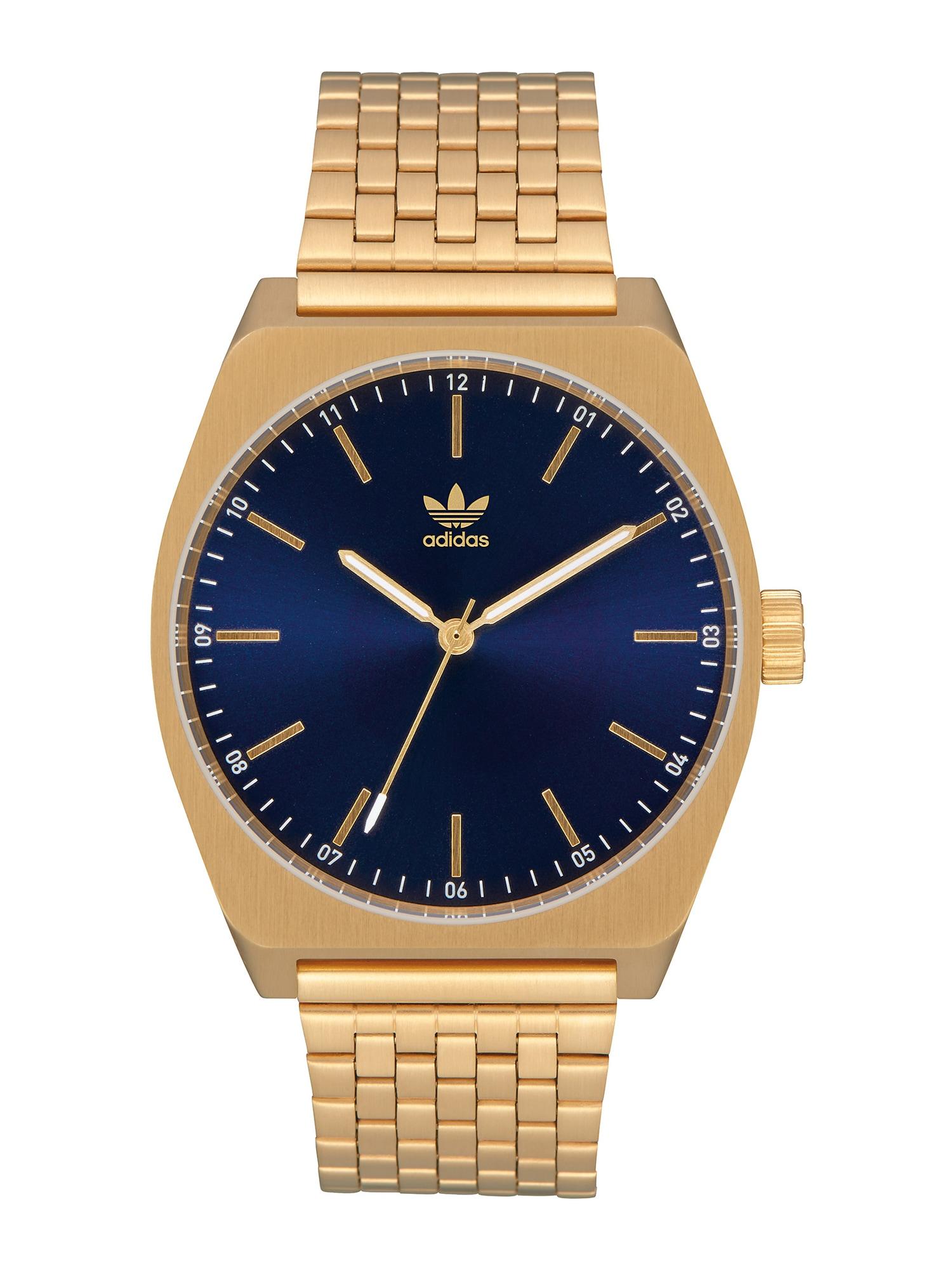 ADIDAS ORIGINALS Analoginis (įprastinio dizaino) laikrodis 'Process M1' auksas / mėlyna