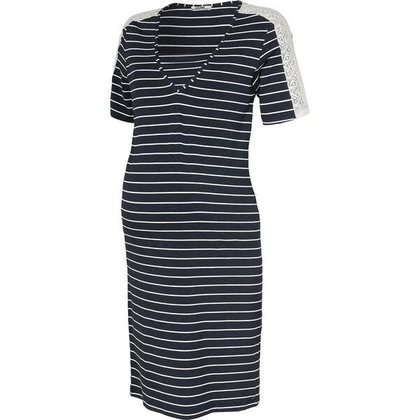 Schwangerschaftsmode - Kleid › love2wait › nachtblau weiß  - Onlineshop ABOUT YOU