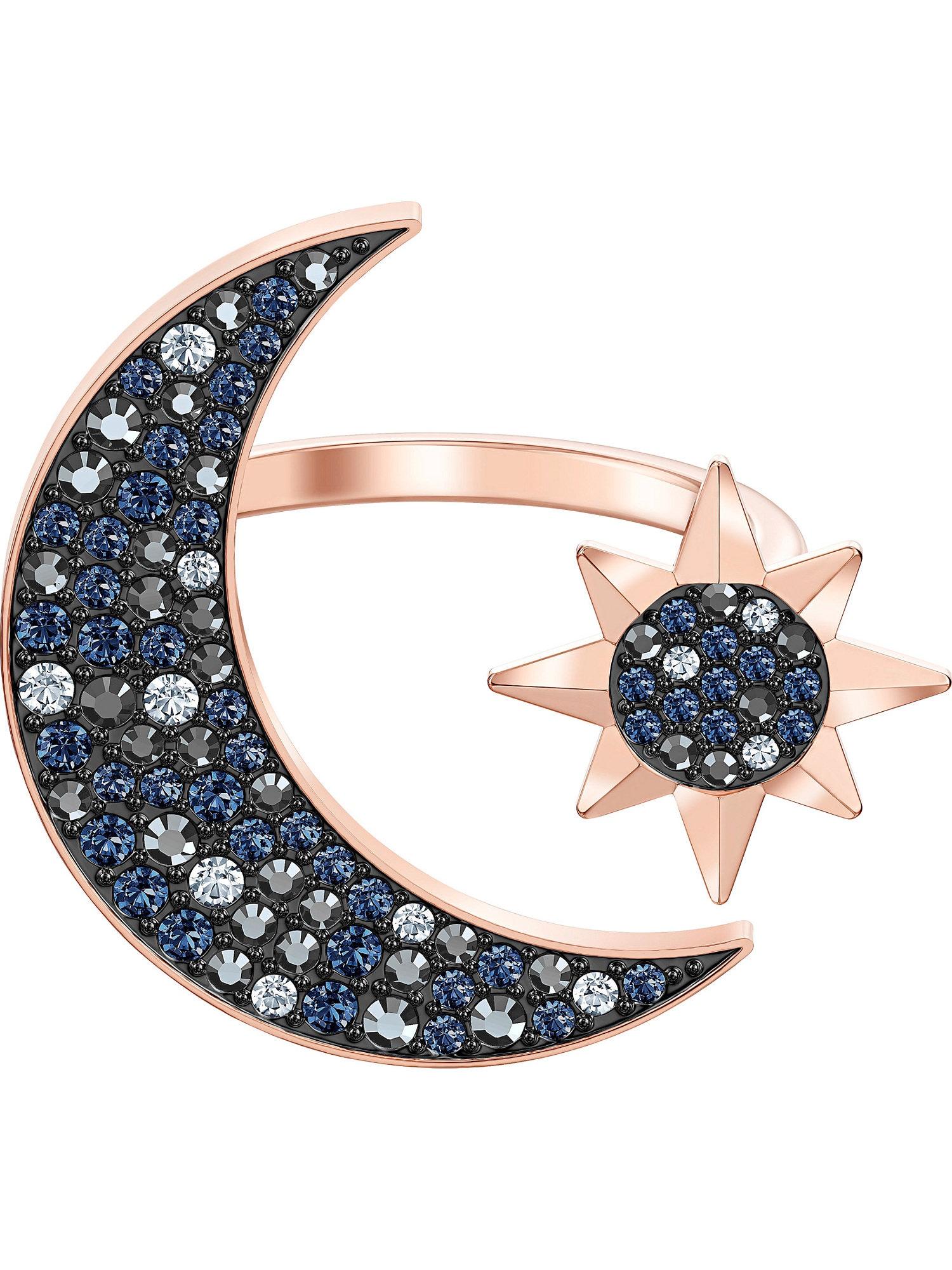 Damen Swarovski Ring 'Symbol' blau,  gold, blau,  gold,  schwarz, rot | 09009654996135