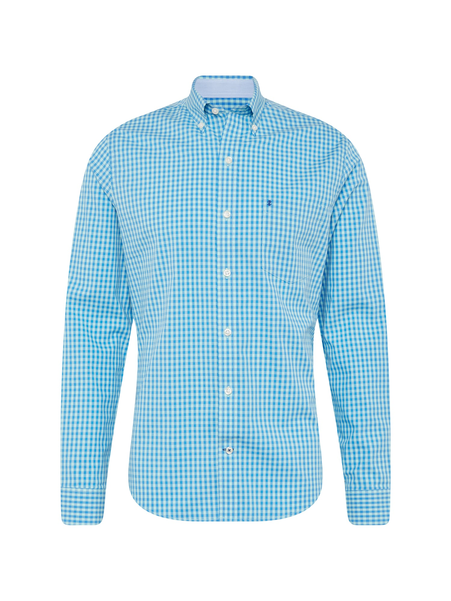 Košile COLORED GINGHAM BD SHIRT modrá IZOD