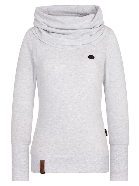 Oberteile für Frauen - Sweatshirt 'Kurzer Schniedelwutz' › Naketano › hellgrau  - Onlineshop ABOUT YOU