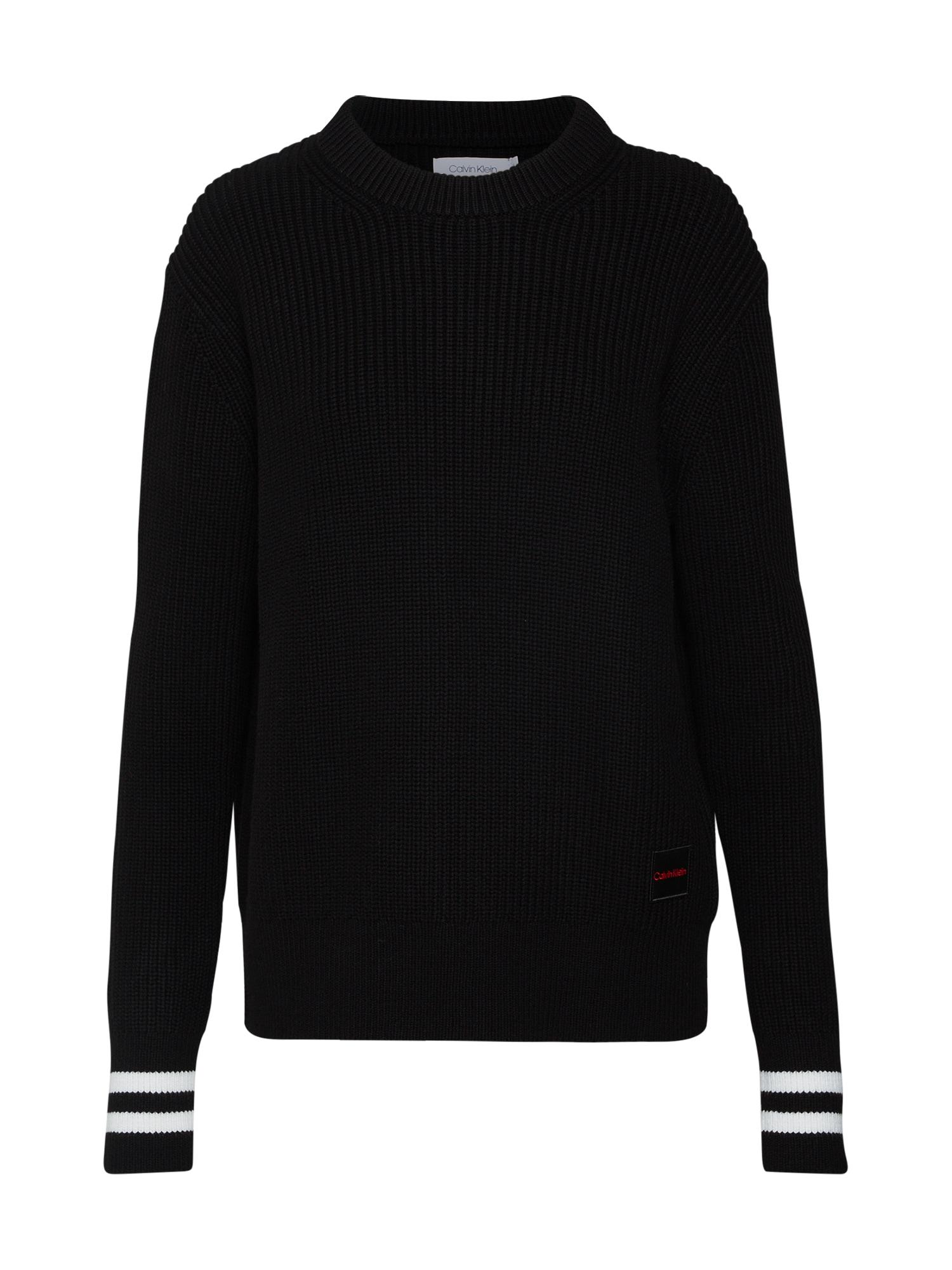 Calvin Klein Megztinis juoda / balta