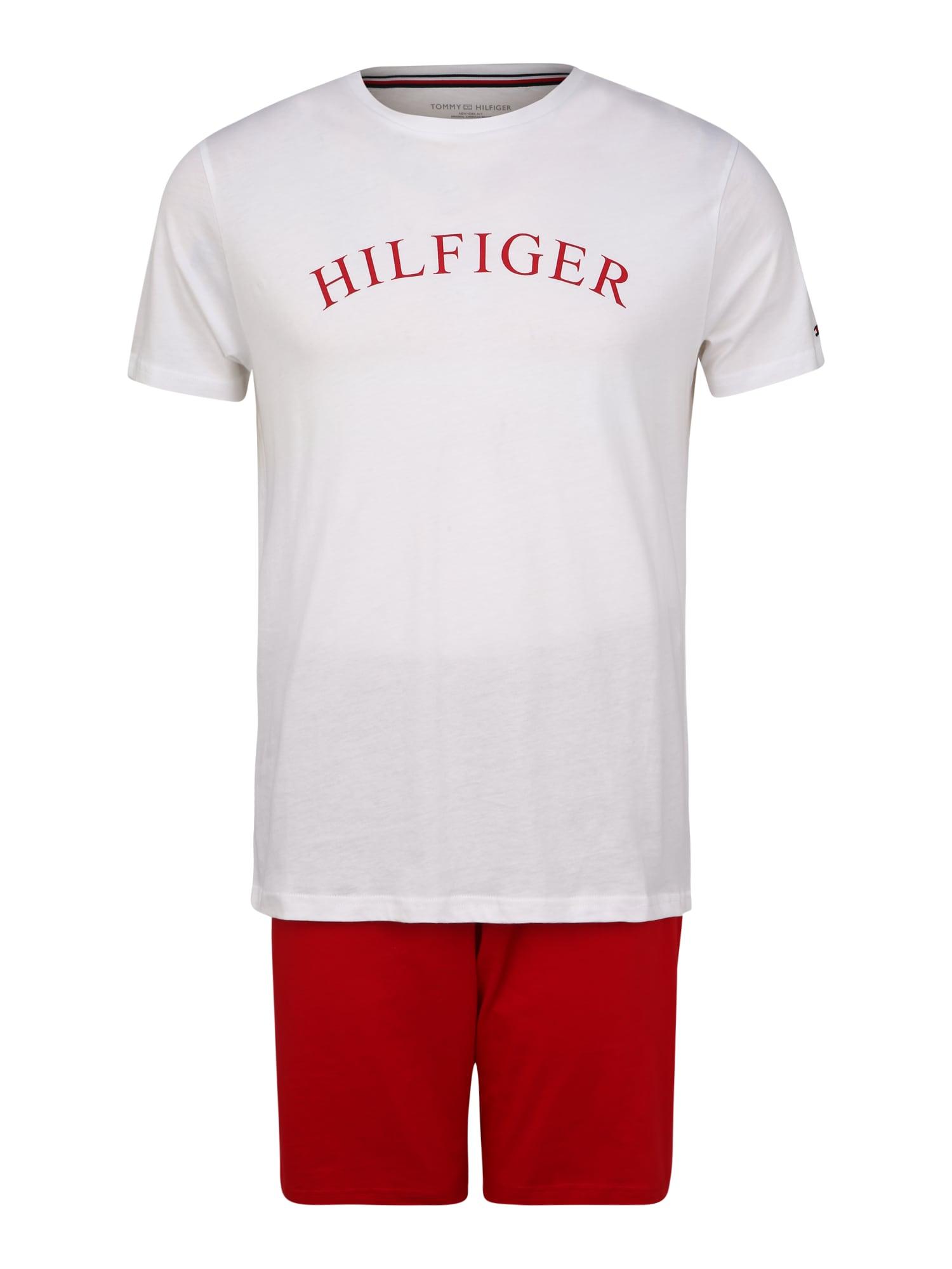 Tommy Hilfiger Underwear Trumpa pižama balta / kraujo spalva