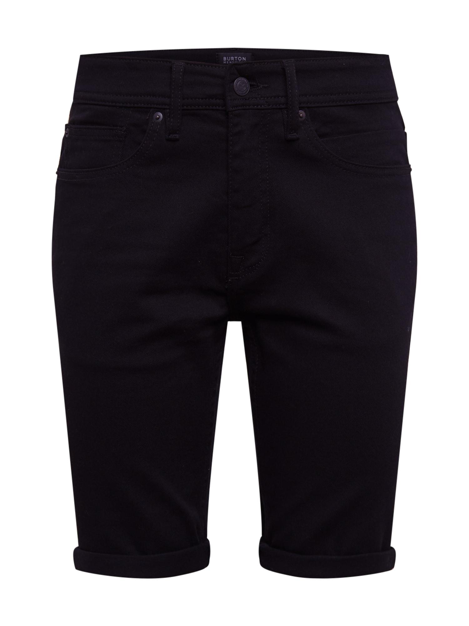 BURTON MENSWEAR LONDON Džinsai juodo džinso spalva