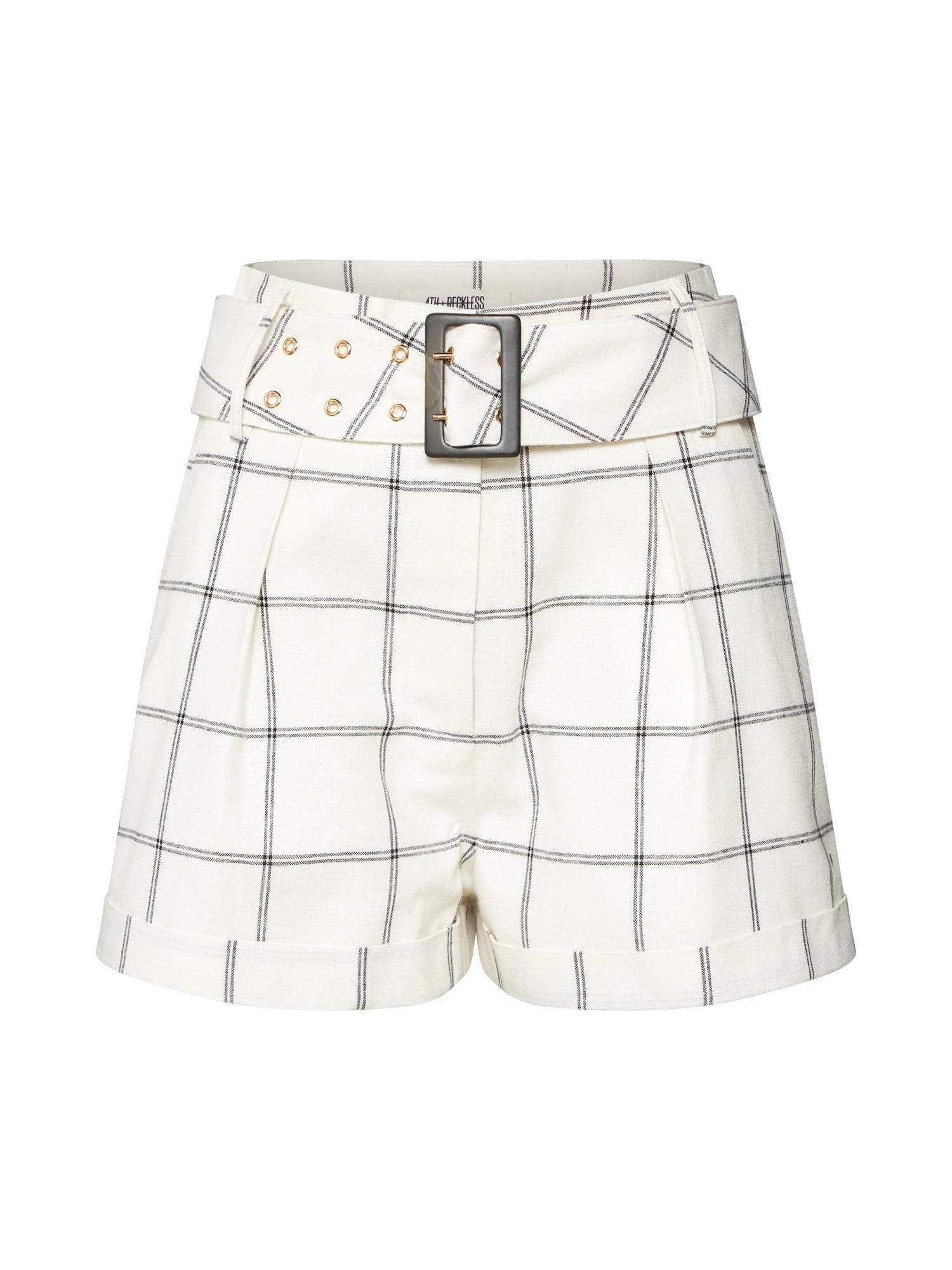 Kalhoty CORIN SHORT černá bílá 4th & Reckless