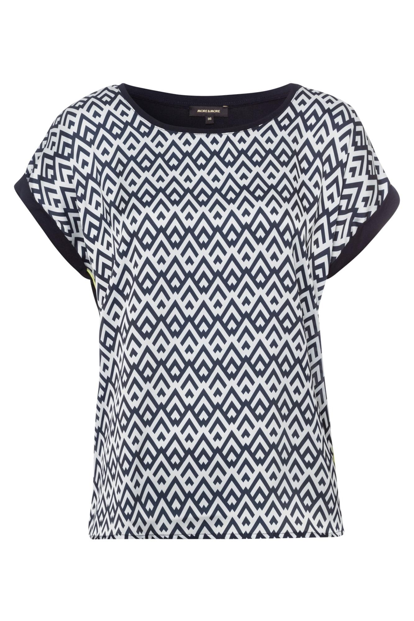 MORE & MORE Tričko  námornícka modrá / biela