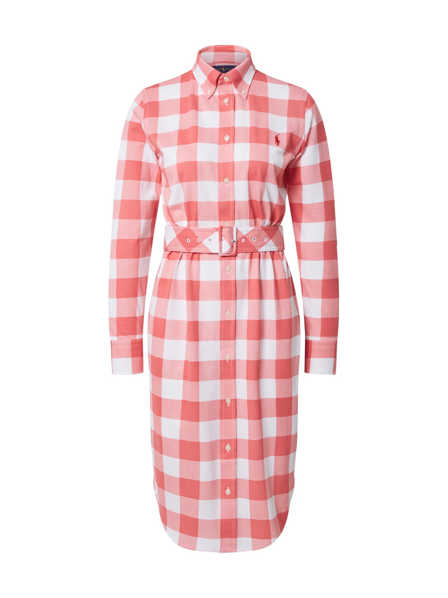 POLO RALPH LAUREN Košeľové šaty 'HEIDI'  biela / červené