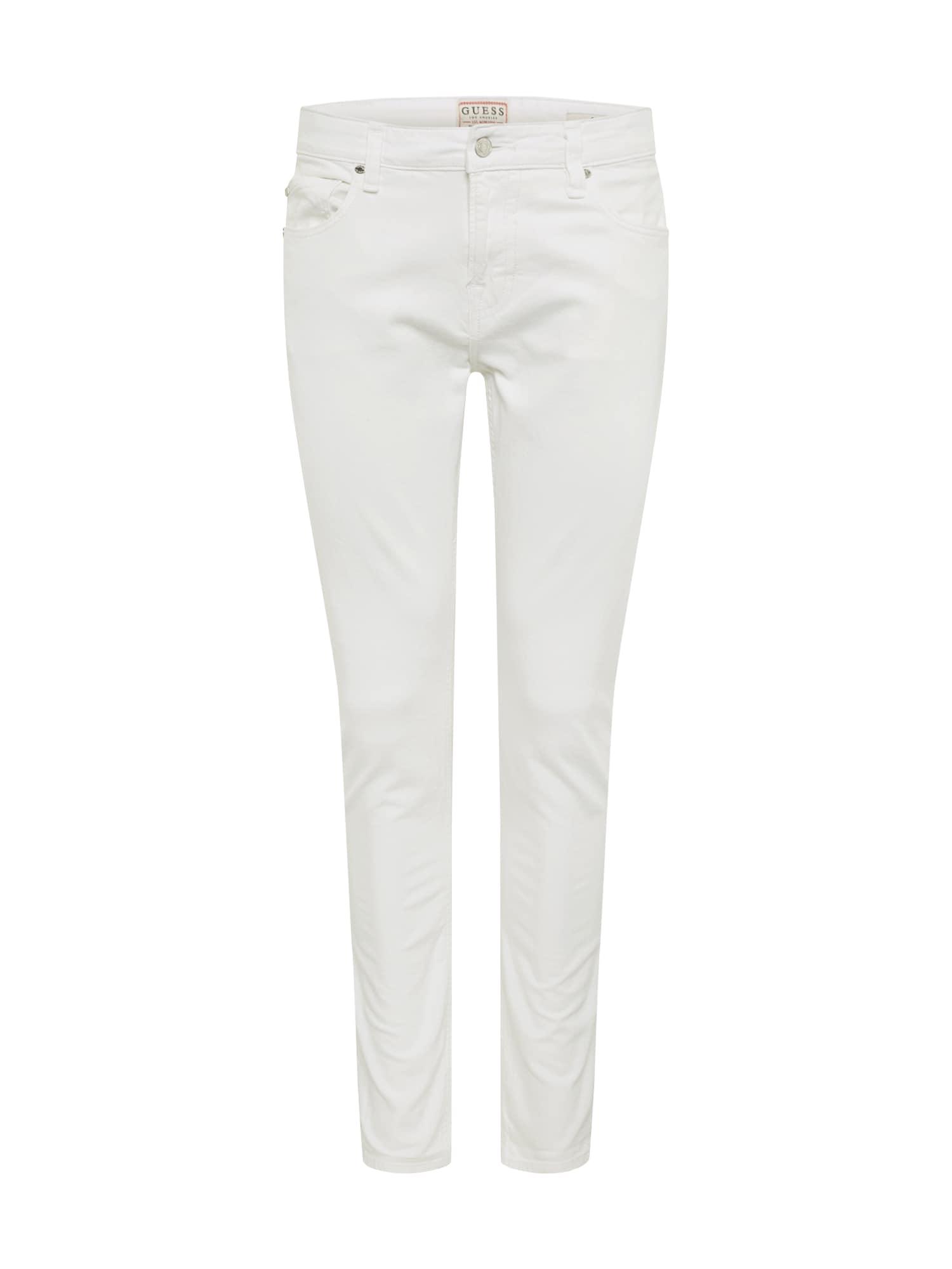 GUESS Džinsai 'CHRIS' balto džinso spalva