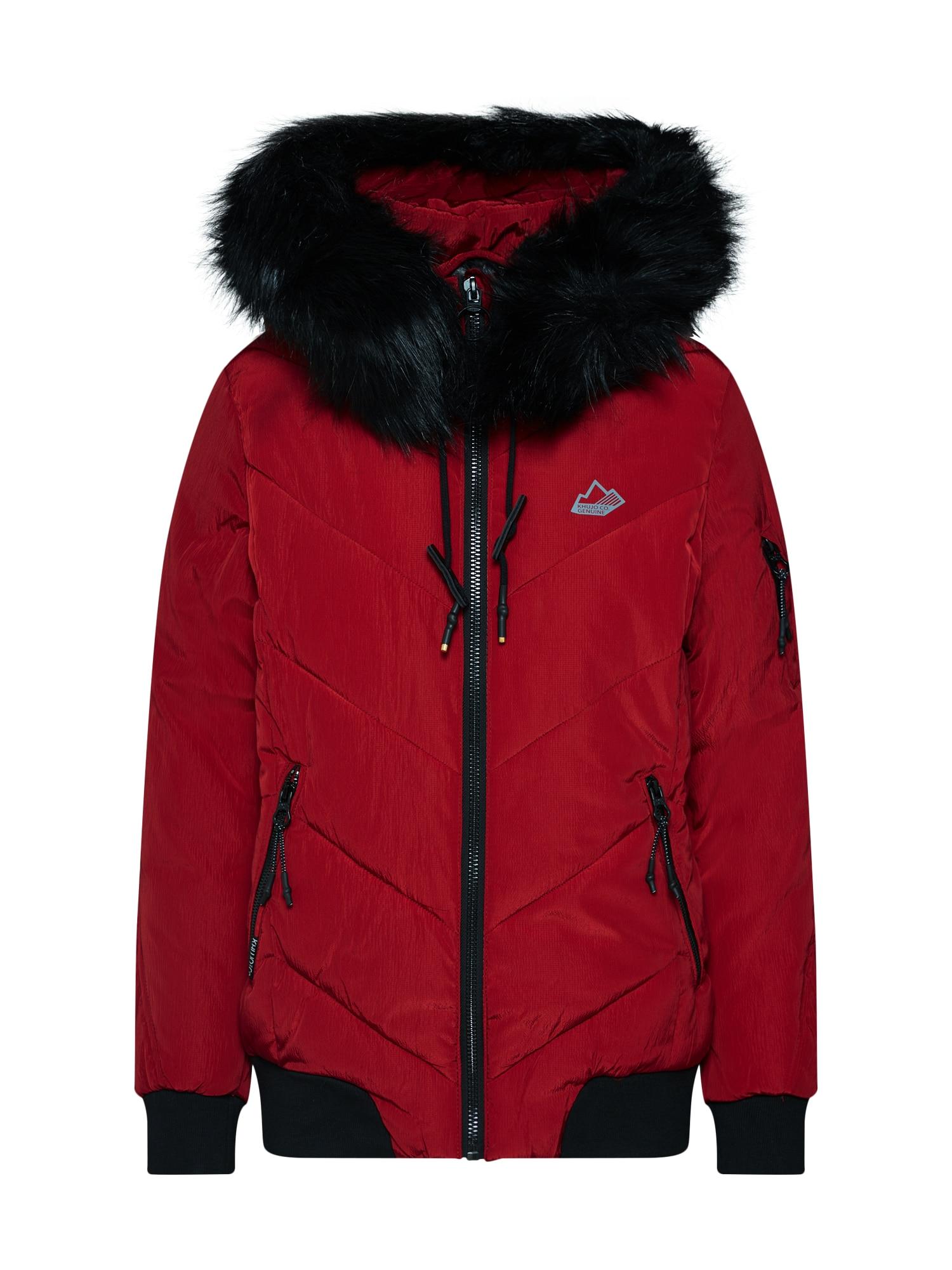 Zimní bunda CIWANA WITH DET. HOOD červená černá Khujo