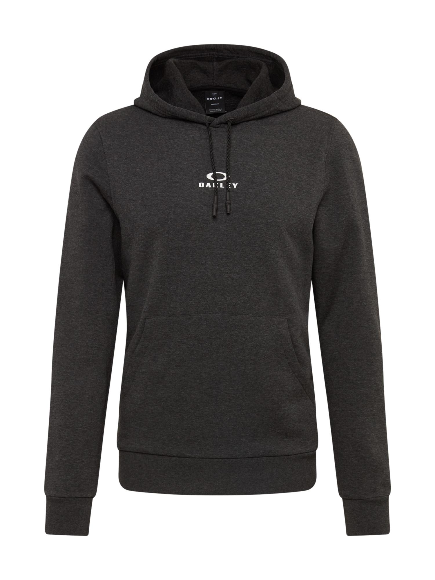 OAKLEY Sportinio tipo megztinis 'HOODIE NEW BARK' tamsiai pilka