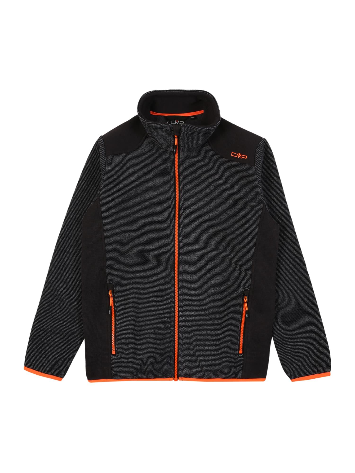 CMP Funkcinis flisinis džemperis antracito / neoninė oranžinė