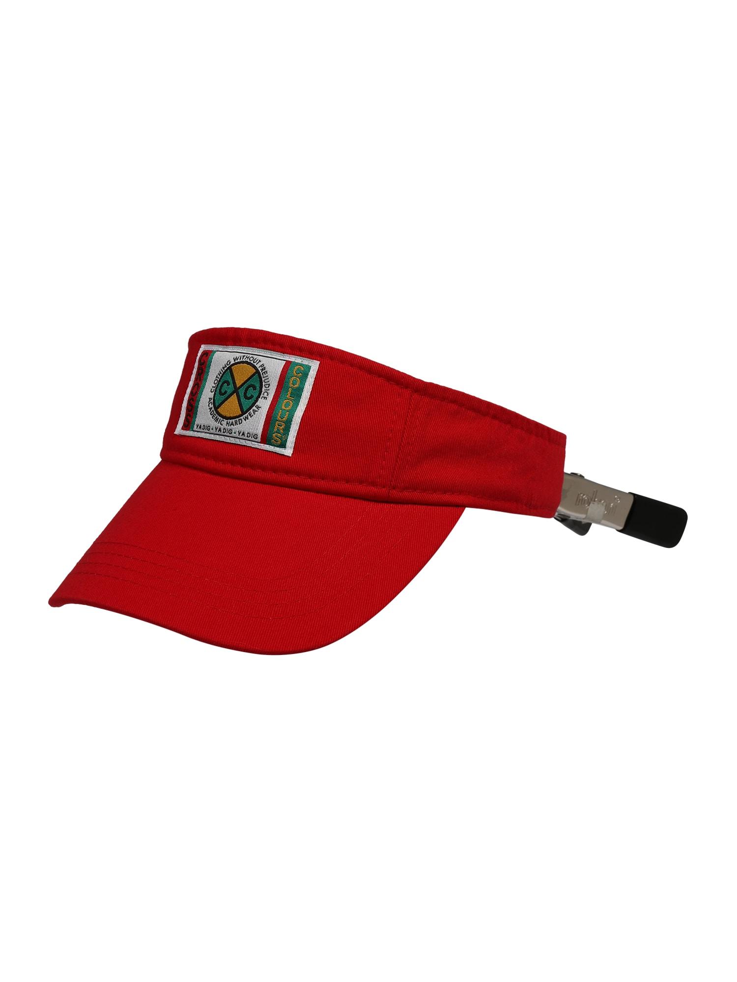 CROSS COLOURS Kepurė 'Vintage Visor' raudona / mišrios spalvos