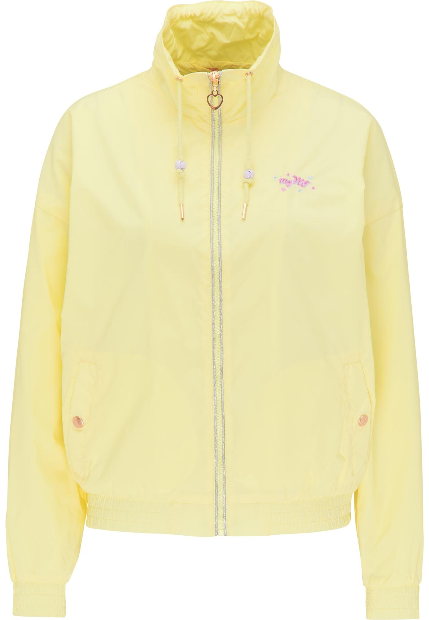 MYMO Demisezoninė striukė šviesiai geltona / tamsiai rožinė