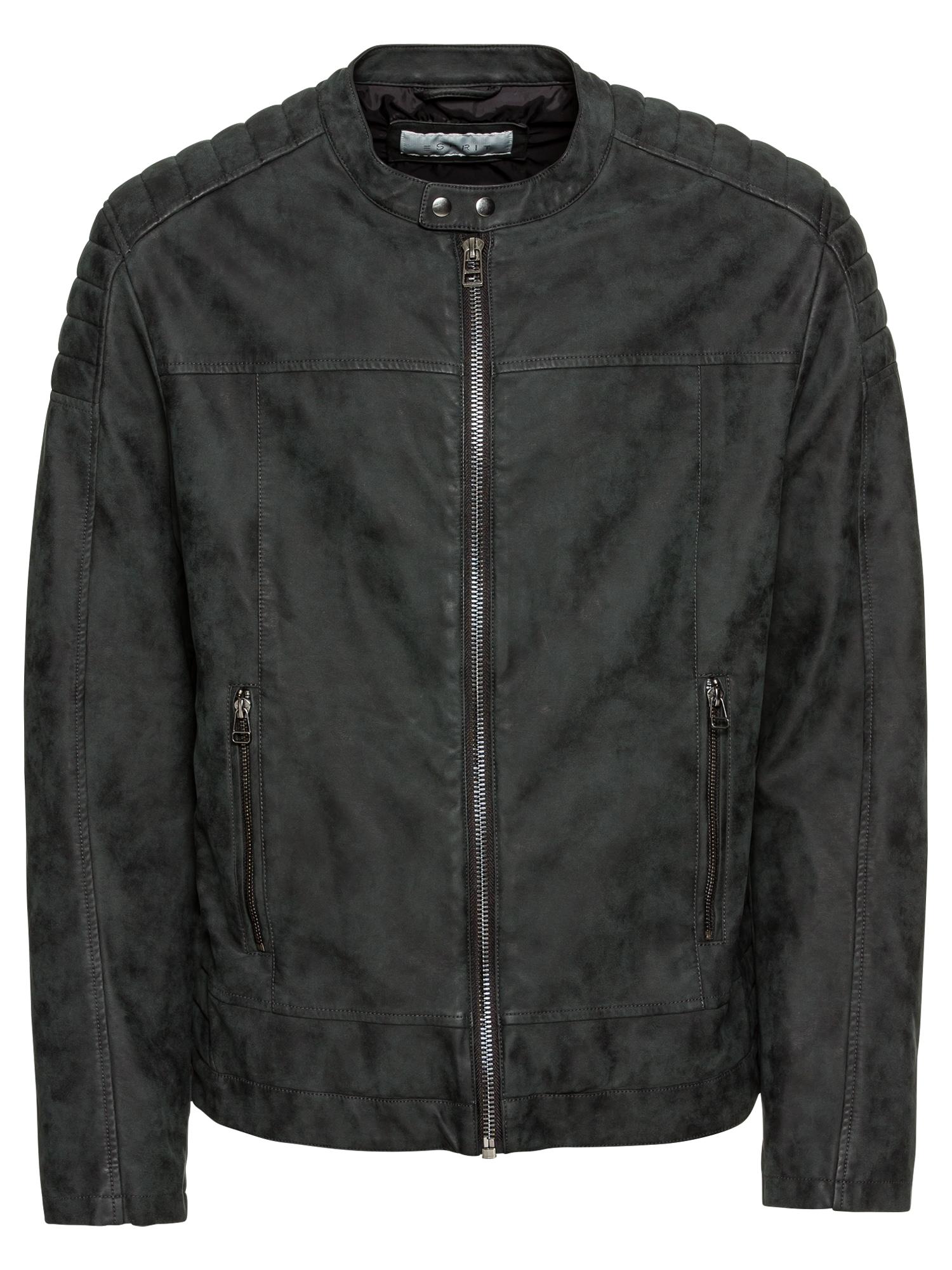 Přechodná bunda PU Biker černá ESPRIT