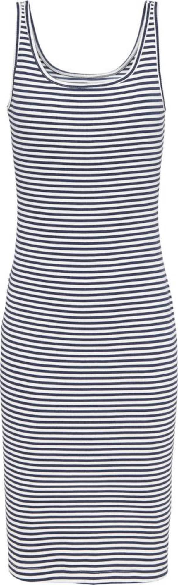 Tommy Jeans Vasarinė suknelė tamsiai mėlyna jūros spalva / balta