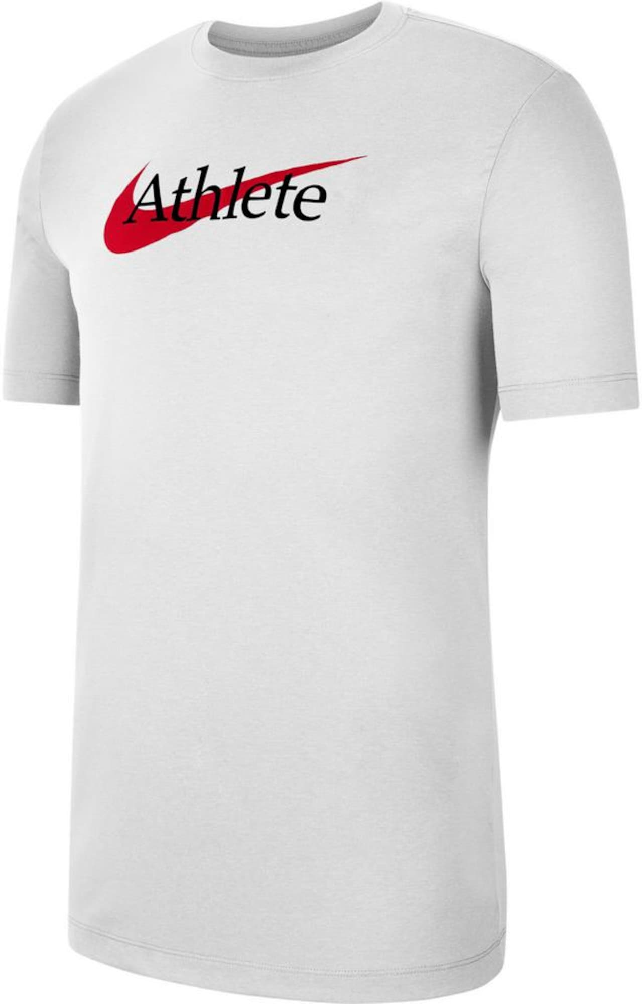 NIKE Sportiniai marškinėliai balta / raudona / juoda