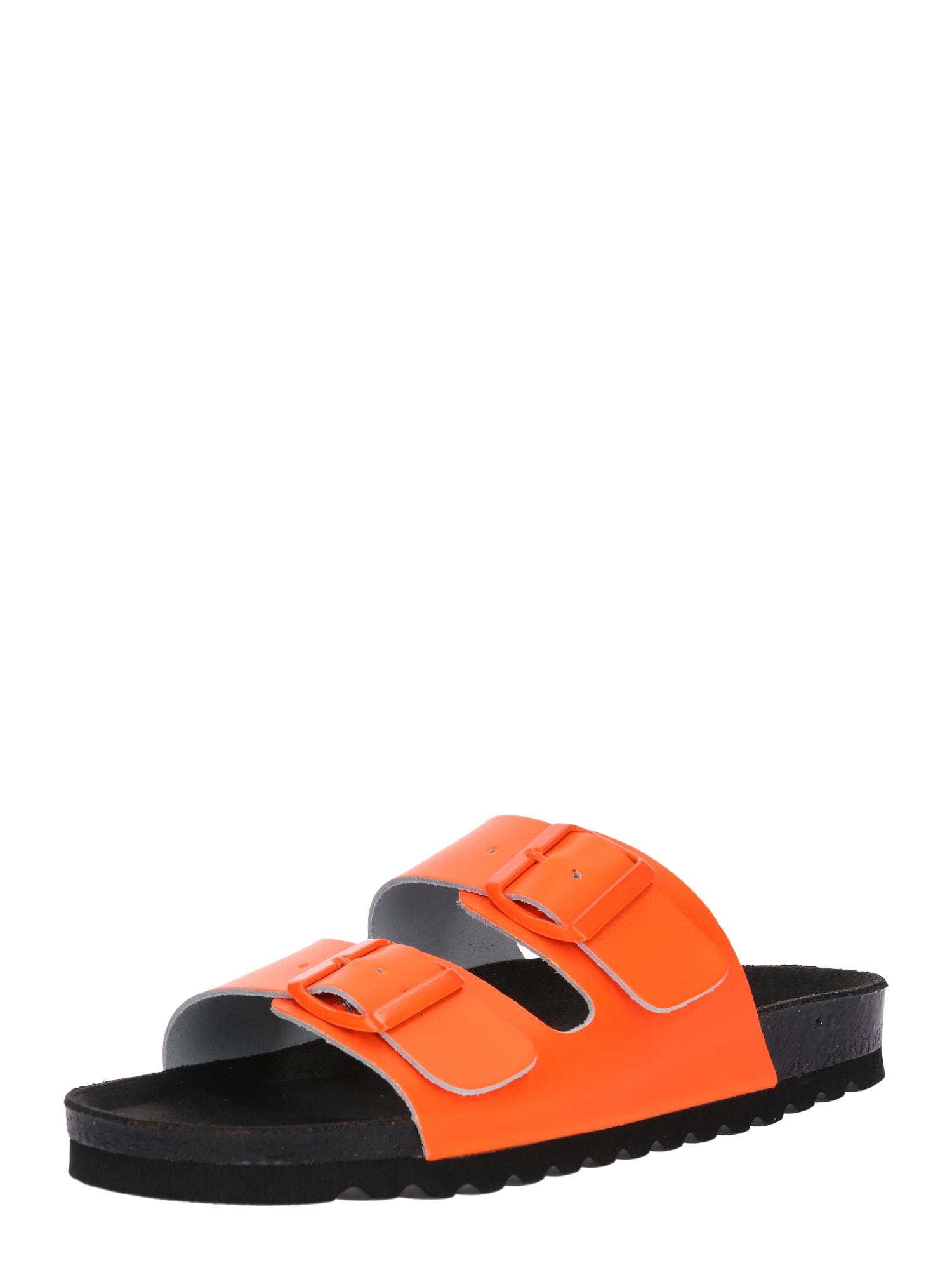 Sandály LUNA svítivě oranžová černá VERO MODA