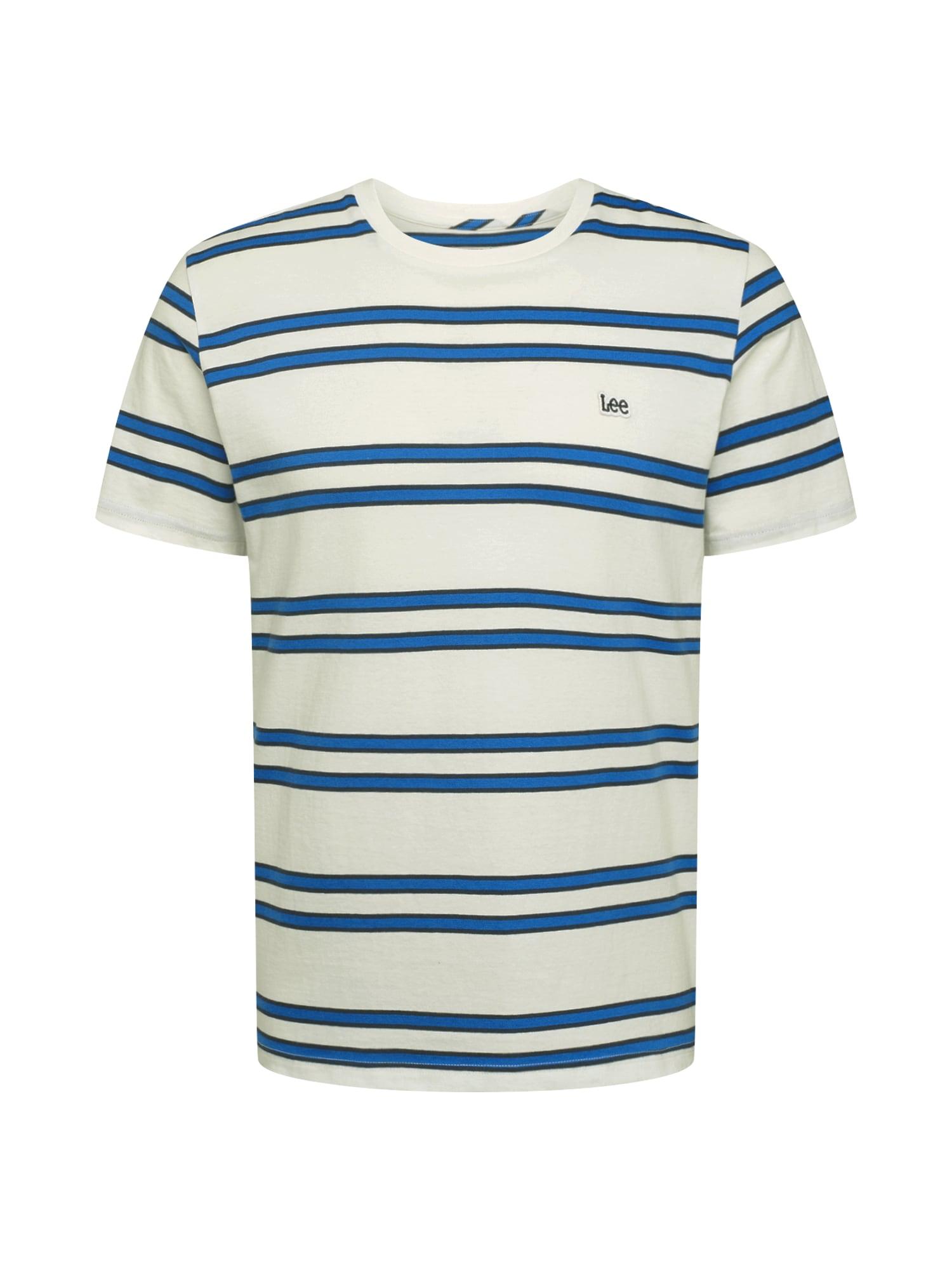 Lee Marškinėliai nebalintos drobės spalva / mėlyna / juoda