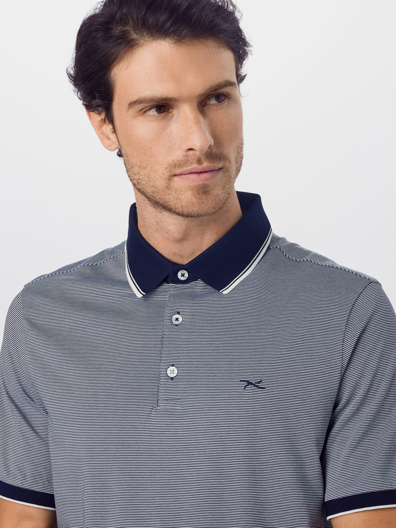 BRAX Tričko 'Paco'  biela / námornícka modrá.