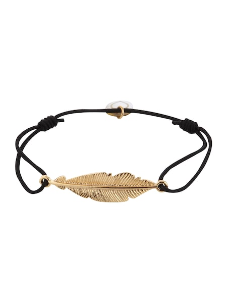 Armbaender für Frauen - Lua Accessories Armschmuck 'Small Feather' gold schwarz  - Onlineshop ABOUT YOU