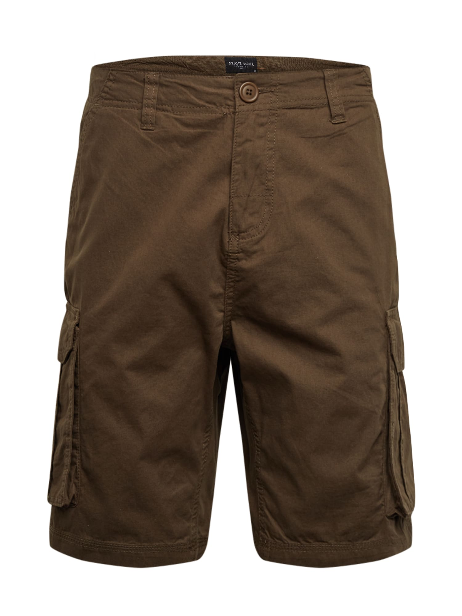 BRAVE SOUL Laisvo stiliaus kelnės 'MSRT-RIVERWOPKA' rusvai žalia