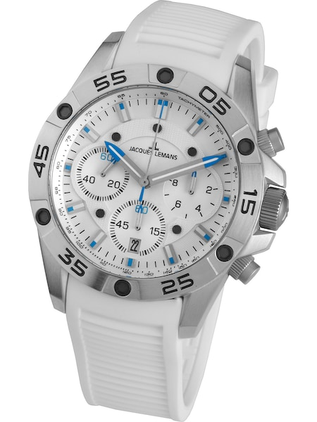 Uhren für Frauen - Jacques Lemans Armbanduhr 'Liverpool' blau schwarz weiß  - Onlineshop ABOUT YOU