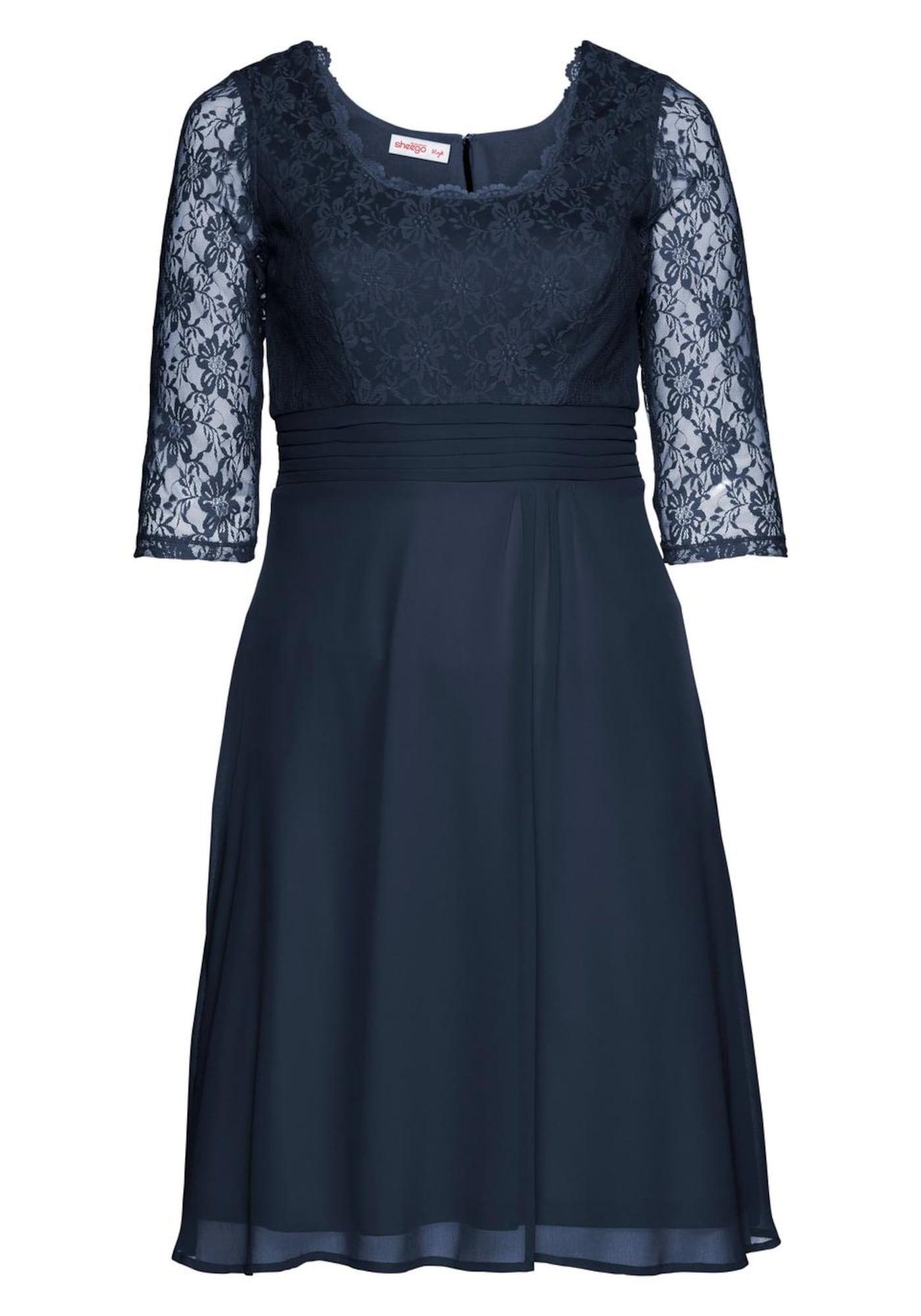 SHEEGO Kokteilinė suknelė tamsiai mėlyna jūros spalva