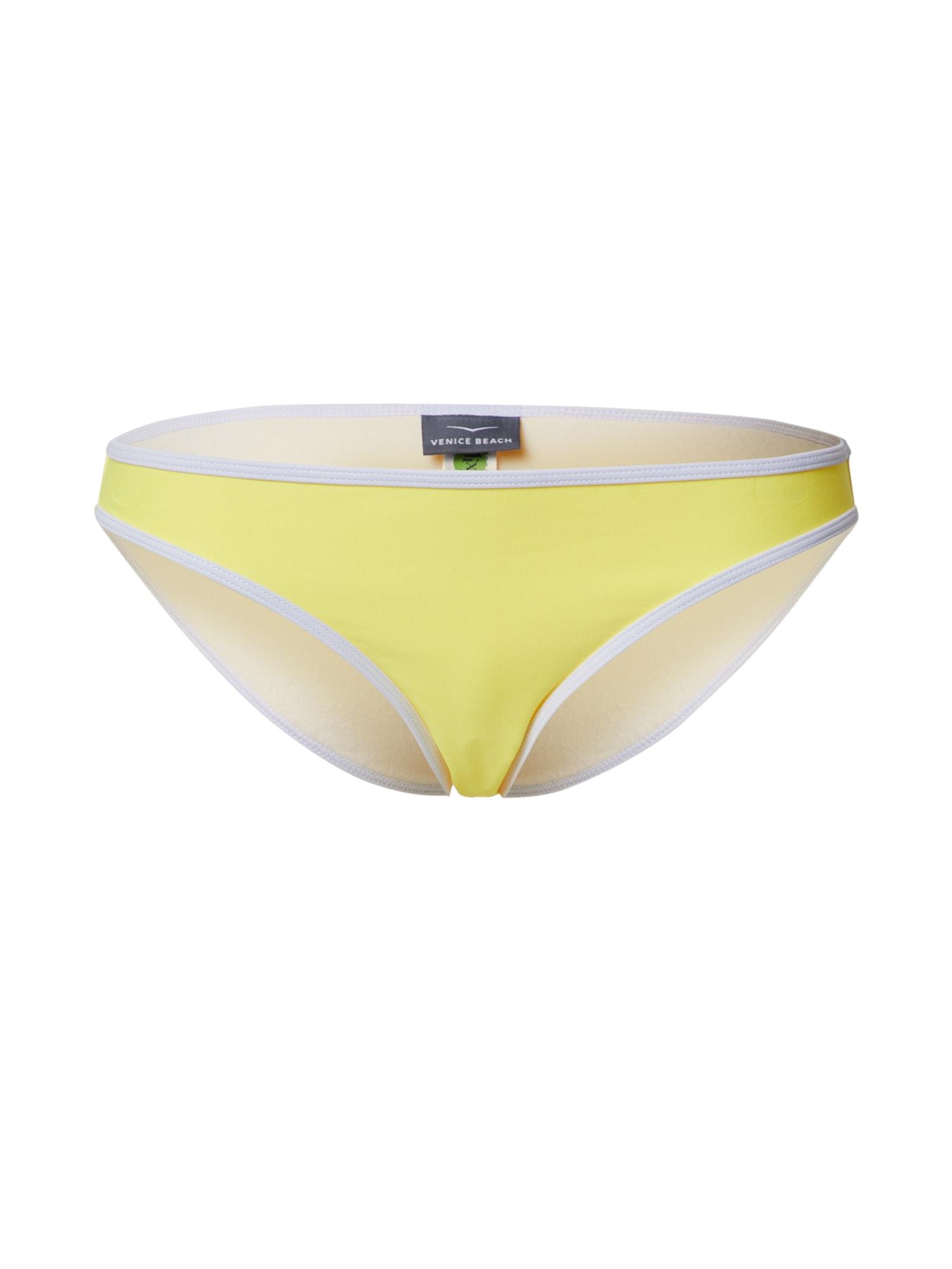 VENICE BEACH Bikinio kelnaitės geltona / balta