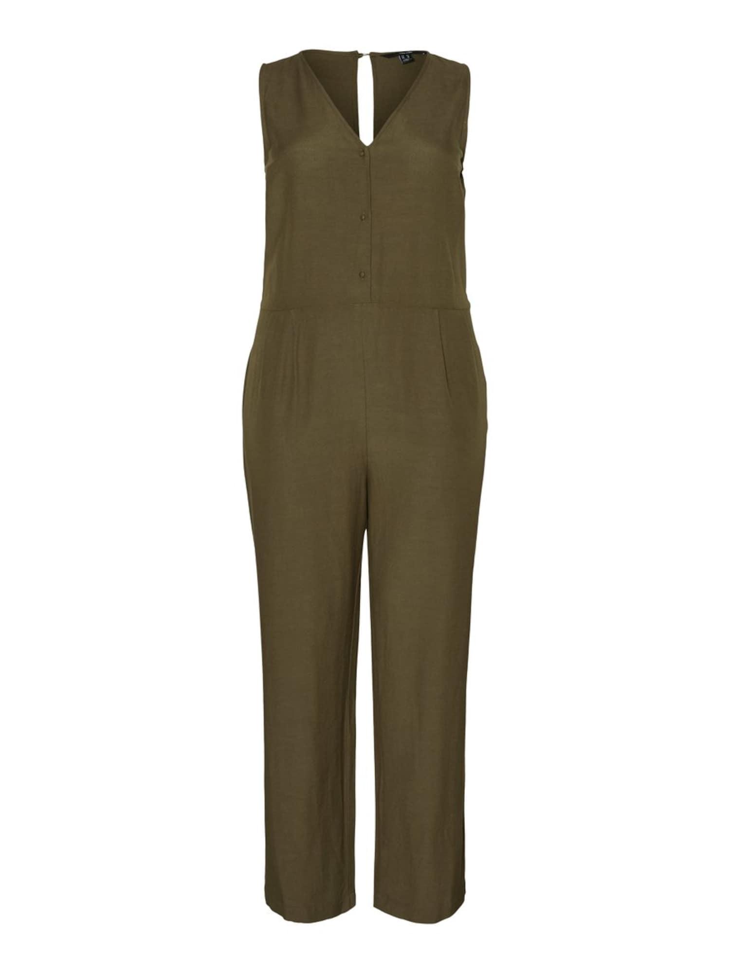 Vero Moda Curve Kombinezono tipo kostiumas rusvai žalia
