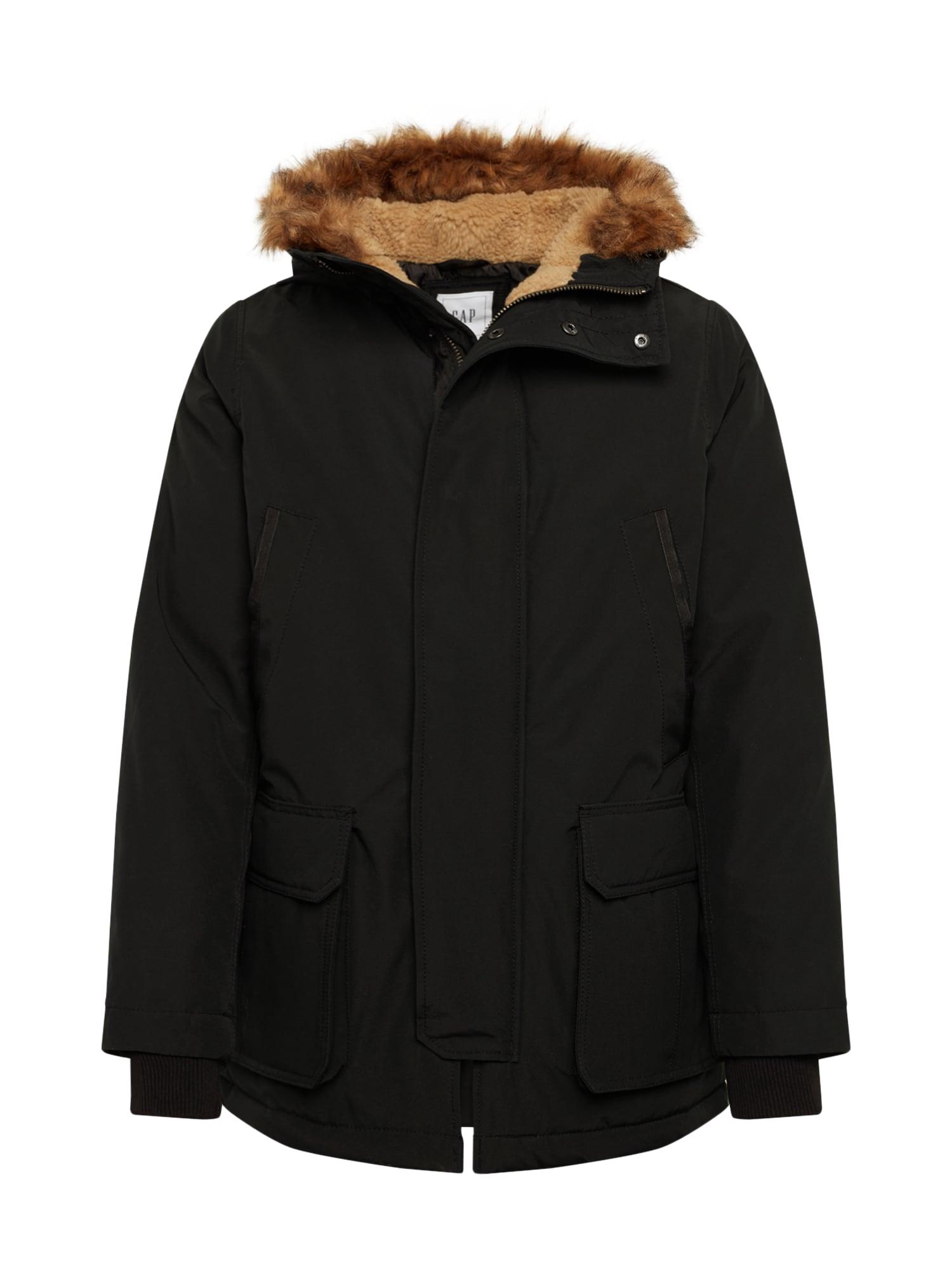 GAP Ilga žieminė striukė juoda