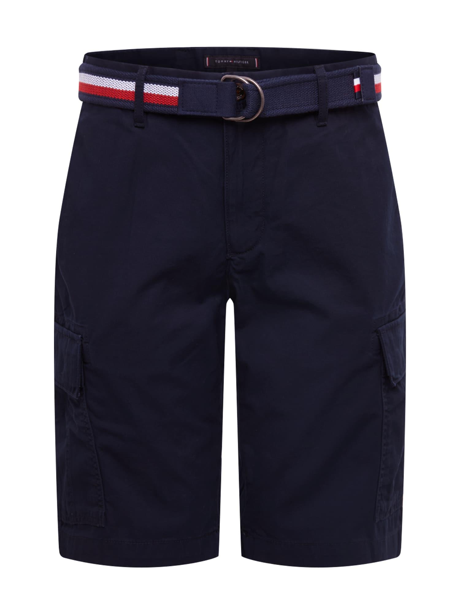 TOMMY HILFIGER Laisvo stiliaus kelnės 'JOHN CARGO SHORT LIGHT TWILL' tamsiai mėlyna