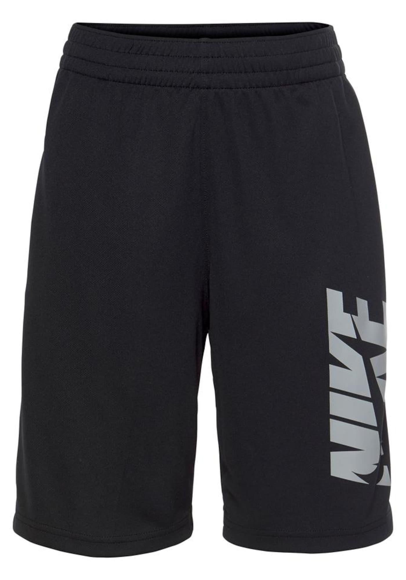 NIKE Športové nohavice  čierna / sivá